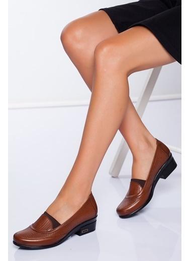 Derithy Hakiki Deri Ayakkabı Taba